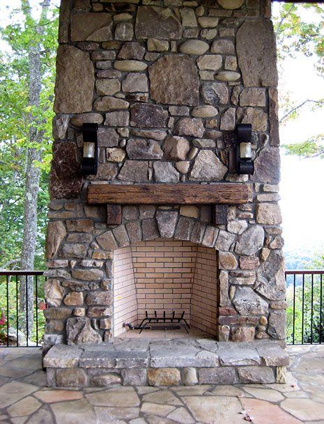 Residential Fireplaces Backyard Fireplace Fireplace Rustic