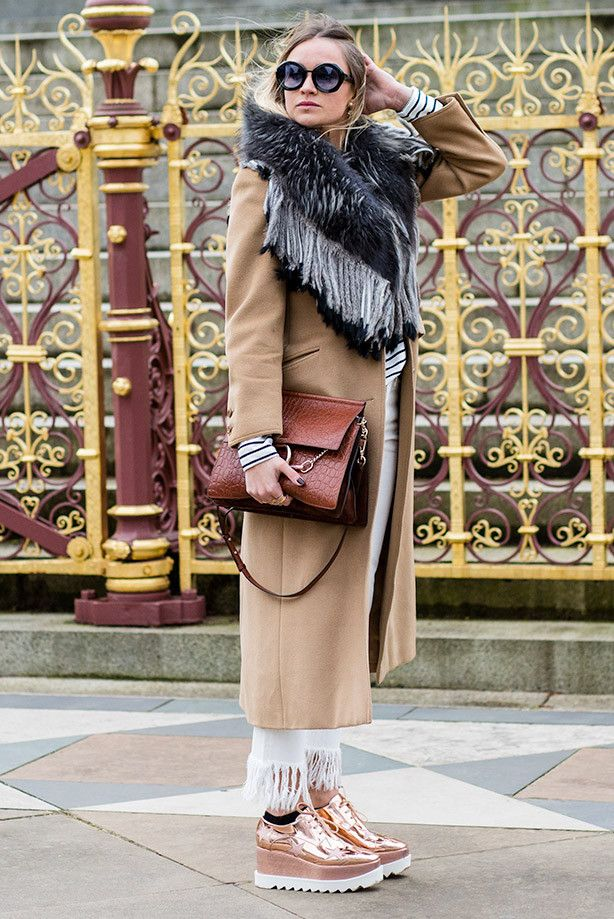 48a6bb7ae0df Winter look. Need a pair of Stella McCartney Elyse shoes