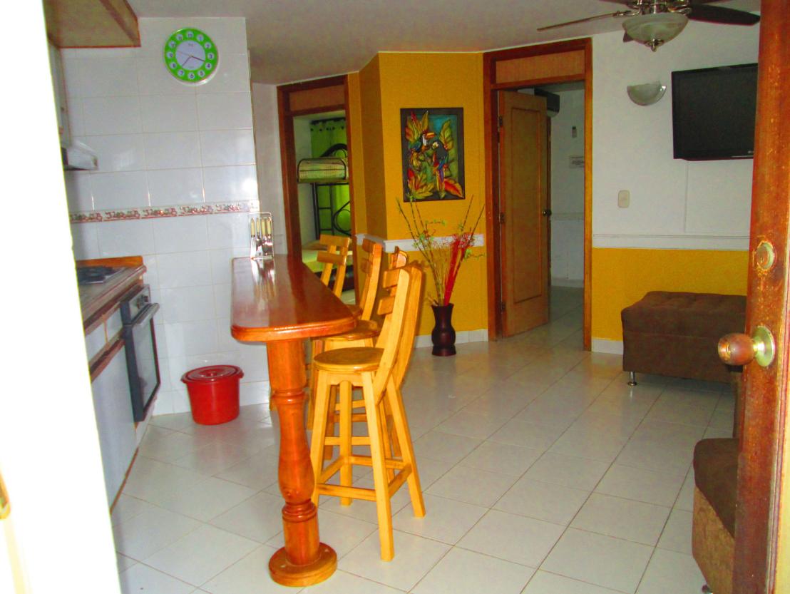 Apartamento ubicado en el Rodadero Sala comedor