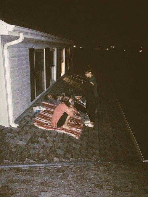Photo of Sleeping on a roof & talking about vague things with friends all night Sleeping …