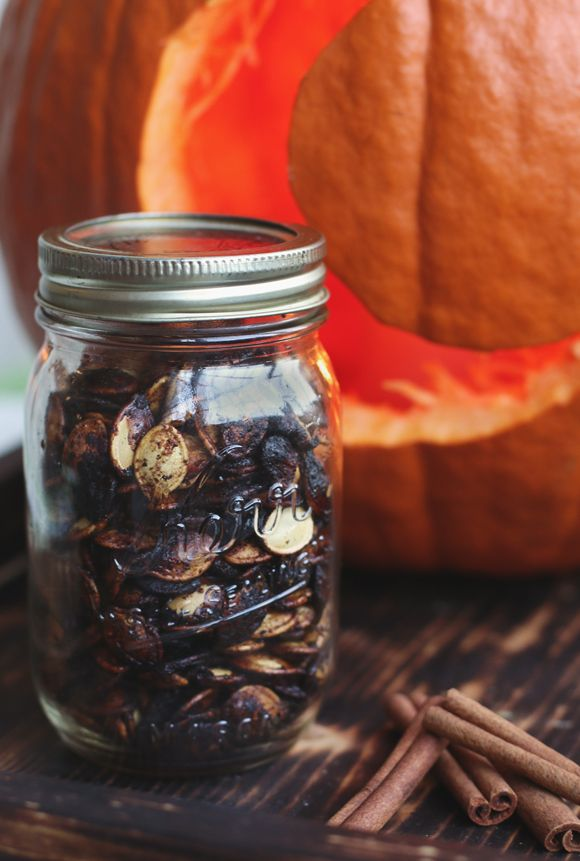 Spicy-Sweet Roasted Pumpkin Seeds by blog.freepeople #Pumpkin_Seeds #Spicy #Sweet