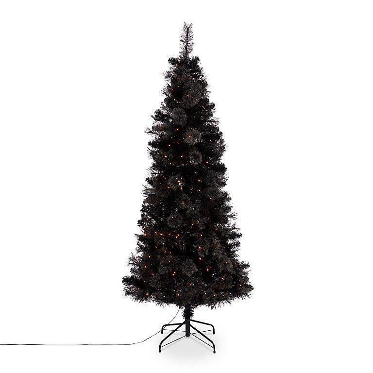 7ft Black Pre Lit Christmas Tree B Q Led Christmas Tree Christmas Tree Black Christmas Trees