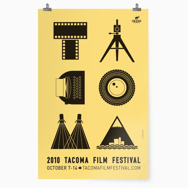 Flat Design Poster For The 2010 Tacoma Film Festival