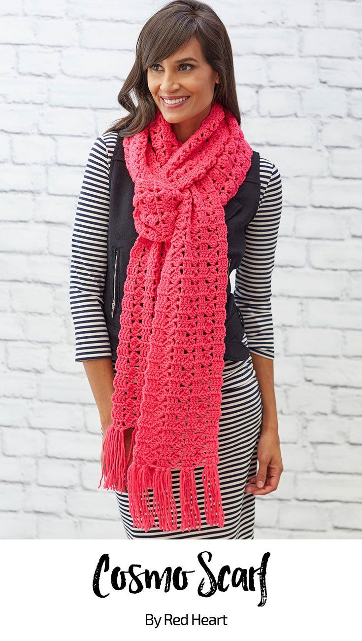 Cosmo Scarf free crochet pattern in Super Saver.   Crochet ...