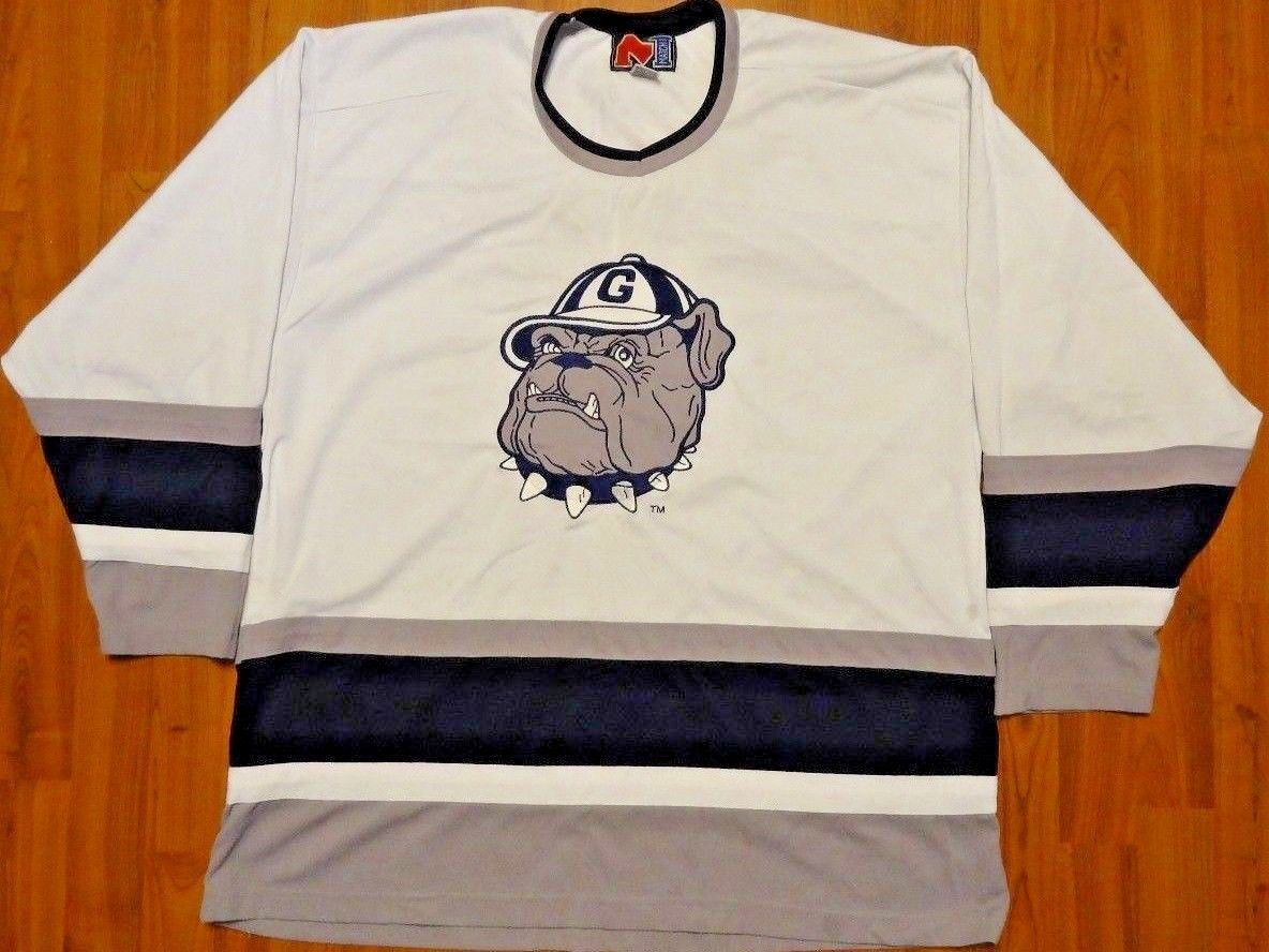 Vintage Authentic Match 1 Georgetown Hoyas Hockey Sewn Jersey NCAA Sz XXL  Rare please retweet ca63bad44