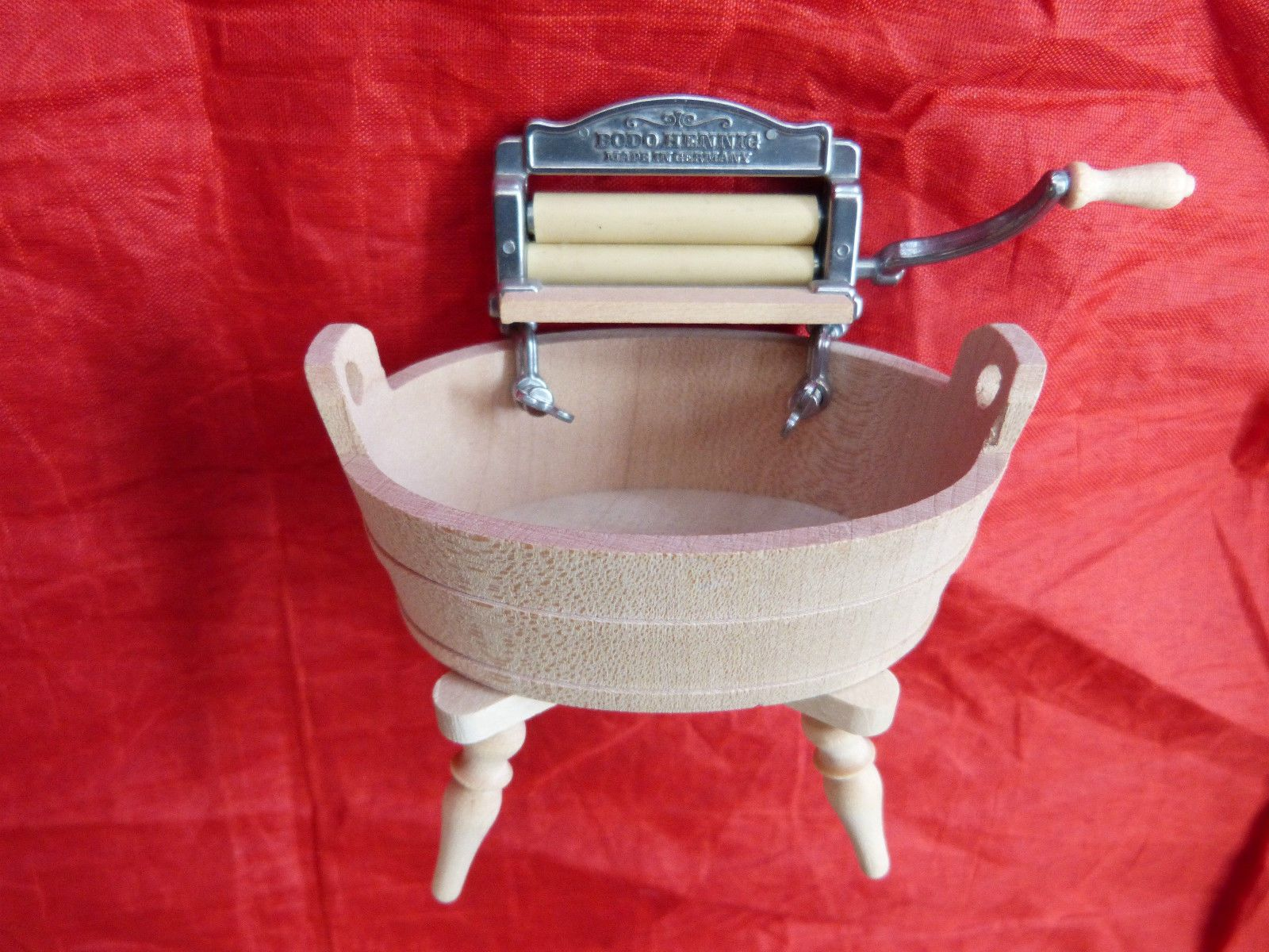 dollsu0027 house miniatures bodo hennig mangle u0026 wash tub ebay