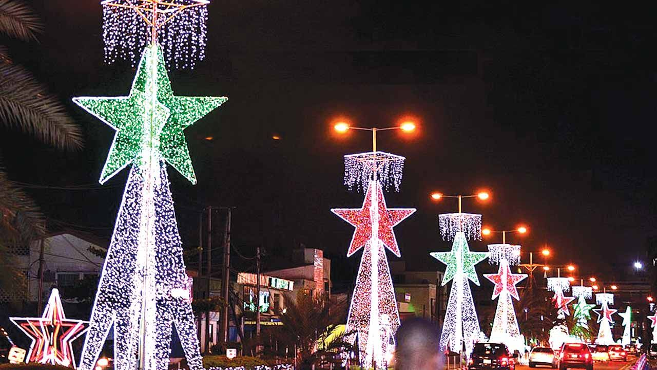 Recession heralds austere Xmas celebrations Christmas lights beautifying Ajose Adeogun Street in ...
