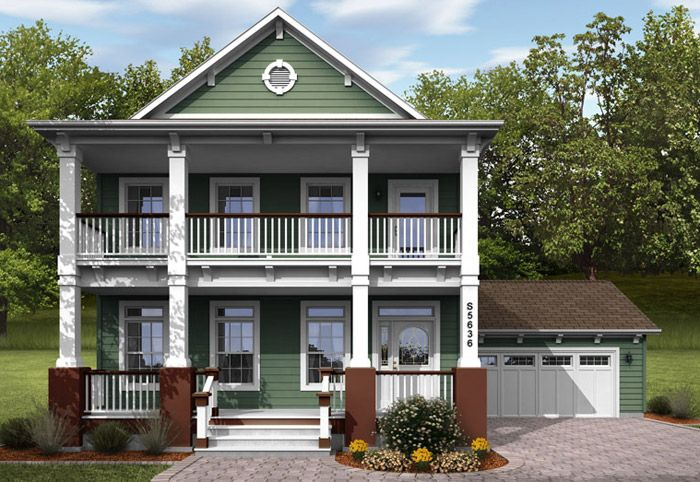 2 story modular home, nice balconies and garage | Dream ...