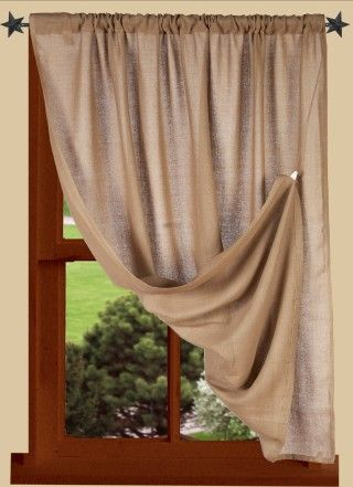 Heirloom Oat Curtain Panel 40 X 45 Primitive Curtains Curtains Primitive Homes