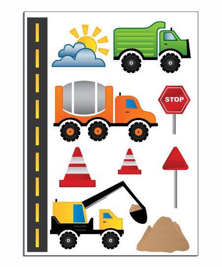 construction equipment wall decal set kamar anak anak on wall stickers stiker kamar tidur remaja id=14638