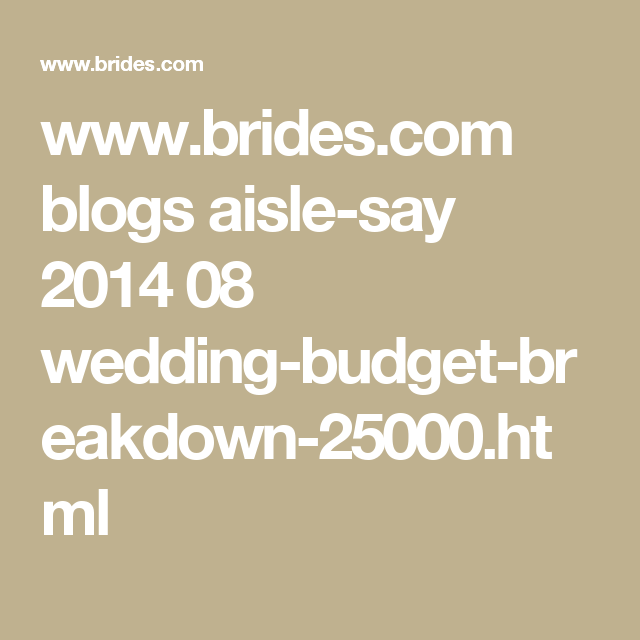 Your 25 000 Wedding Budget Where Should The Money Go