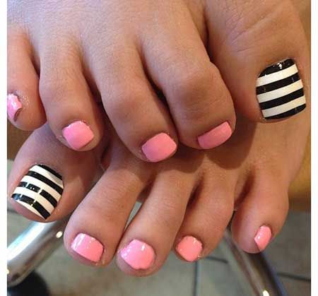 Fun Easy Toenail Designs Beauty Pinterest Easy Toenail