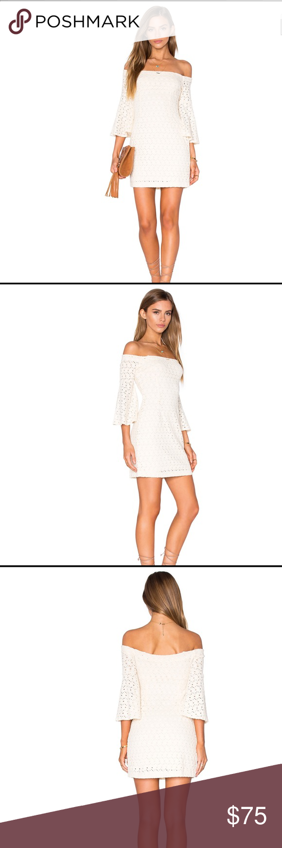 "Free People Ivory Off-the-Shoulder Lace Dress XS Free People Lace Off The Shoulder ""Sophia"" Mini Dress MSRP $148, Brand New With Tags • Size: Extra Small • Color: Ivory • Shell: 66% Cotton / 33% Nylon / 1% Spandex • Lining: 100% Polyester • Fully lined • Hidden side zipper closure  • Shoulder seam to hem approximately 30""  Please message with questions. Free People Dresses Mini"