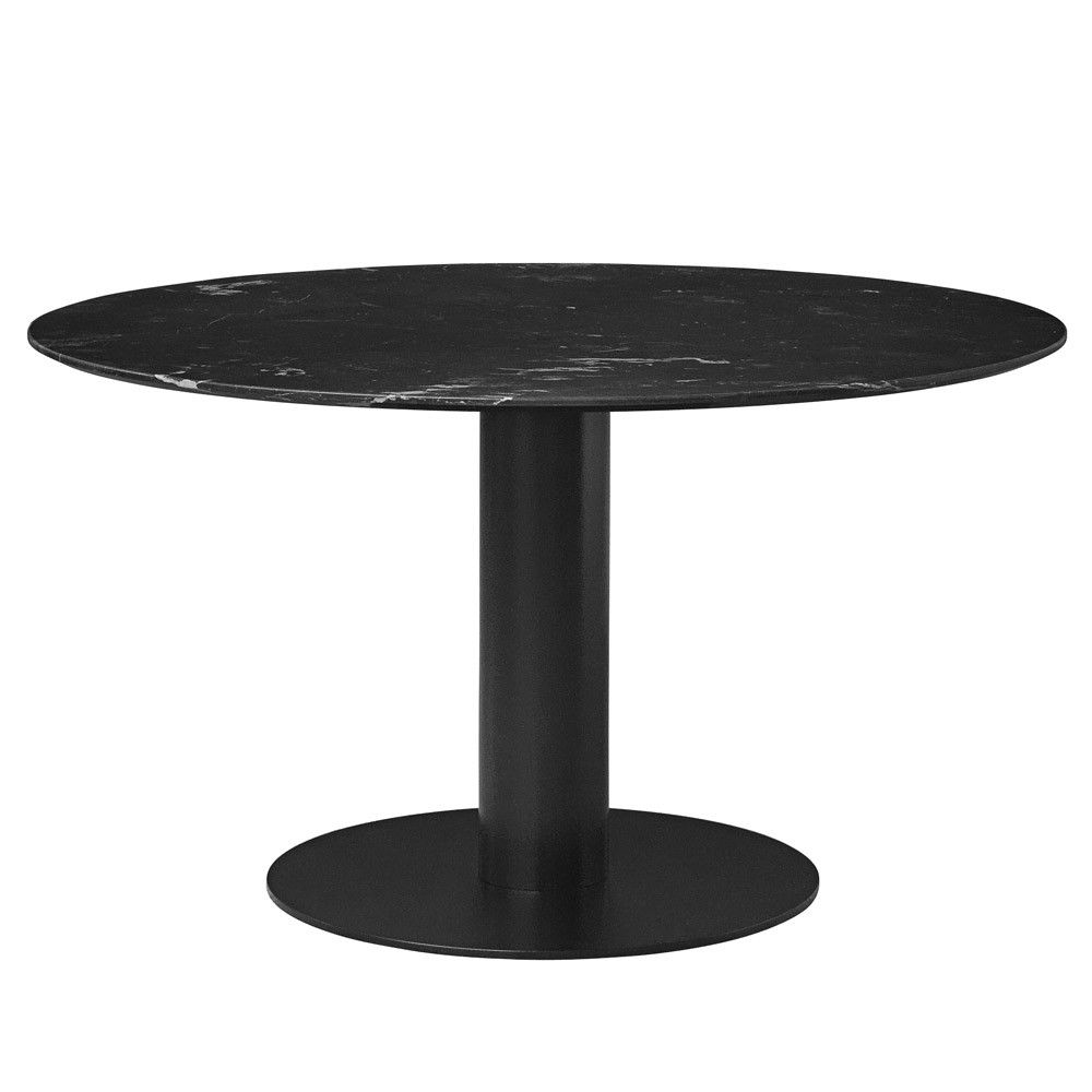 White marble table top - Gubi 2 0 Round Dining Table With Nero Marquina Marble Table Top