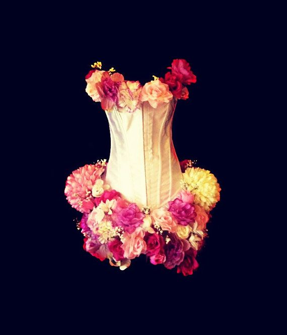 Corset with Flowers