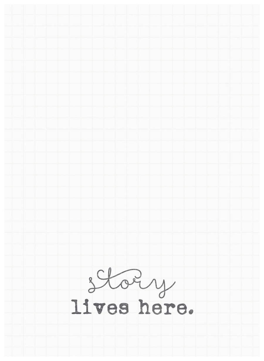 Story lives here grid journaling card - project life