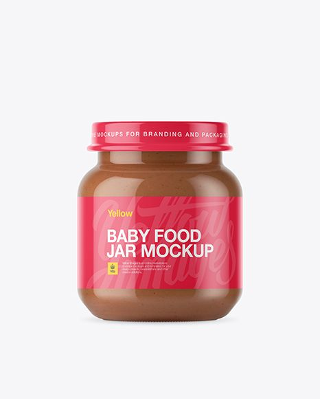 Baby Food Vegetable Puree Small Jar Mockup Front View In Jar Mockups On Yellow Images Object Mockups In 2020 Mockup Free Psd Baby Food Vegetables Mockup Downloads