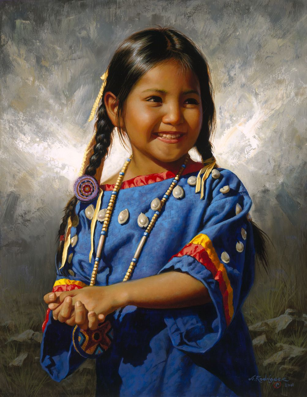 Alfredo RODRIGUEZ Native american children, Native