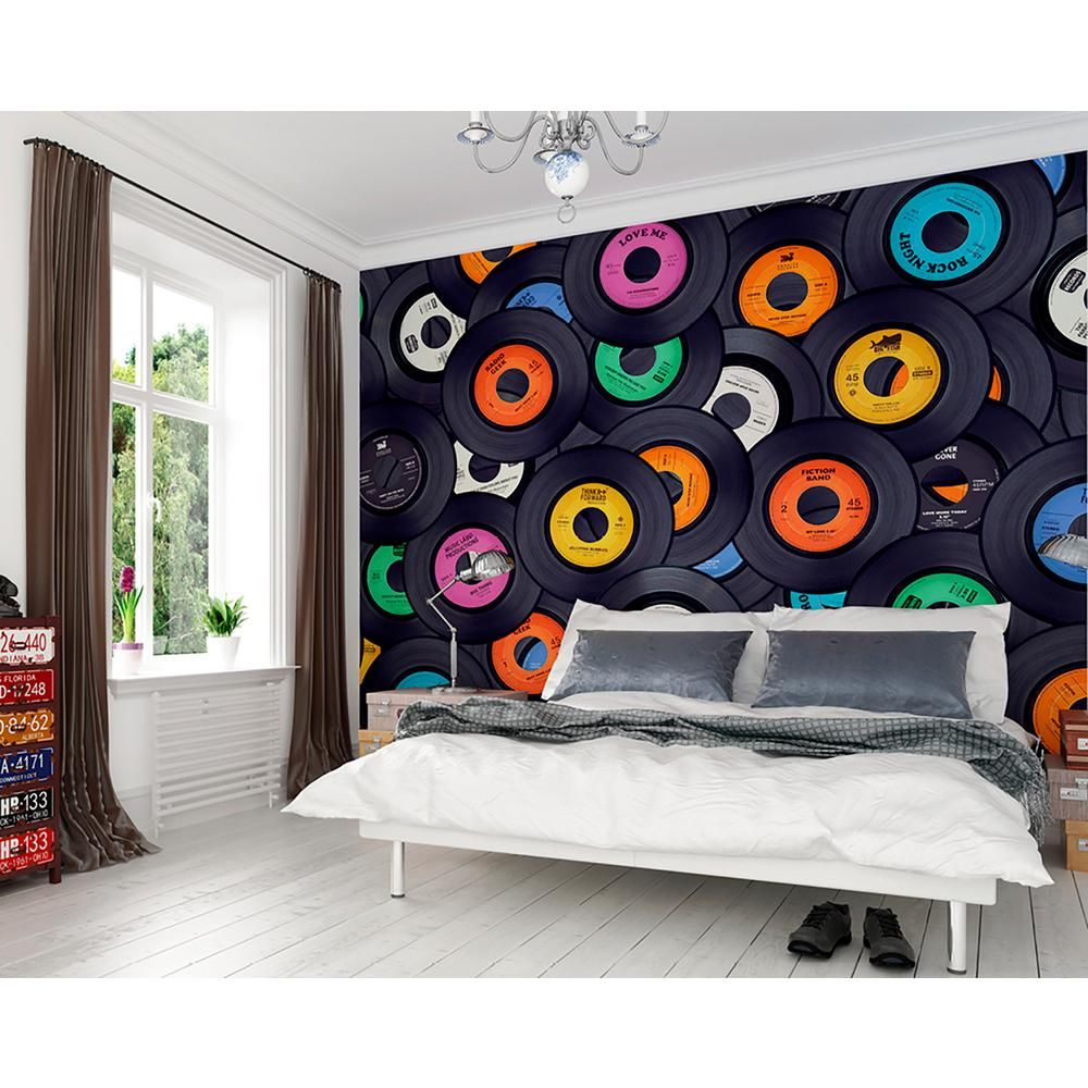 OhPopsi Vinyl Music Wall Mural WALS0320 in 2020 Music