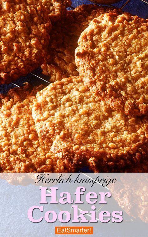 Knusprige Hafer Cookies | eatsmarter.de #hafercookies #haferkekse #backen