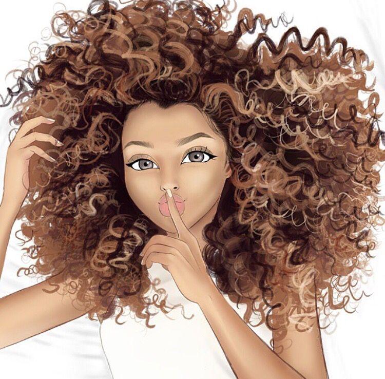 curly hair black art