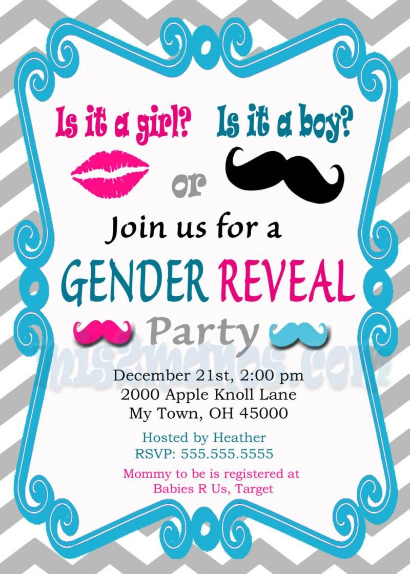 free printable gender reveal invitations google search kala