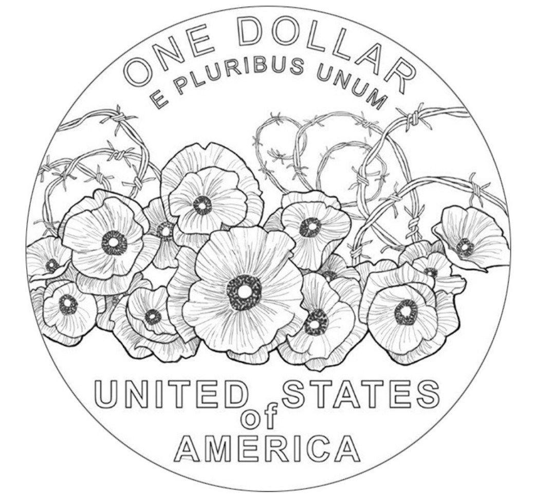 Final Design For Usa Wwi Memorial Silver Dollar Coin