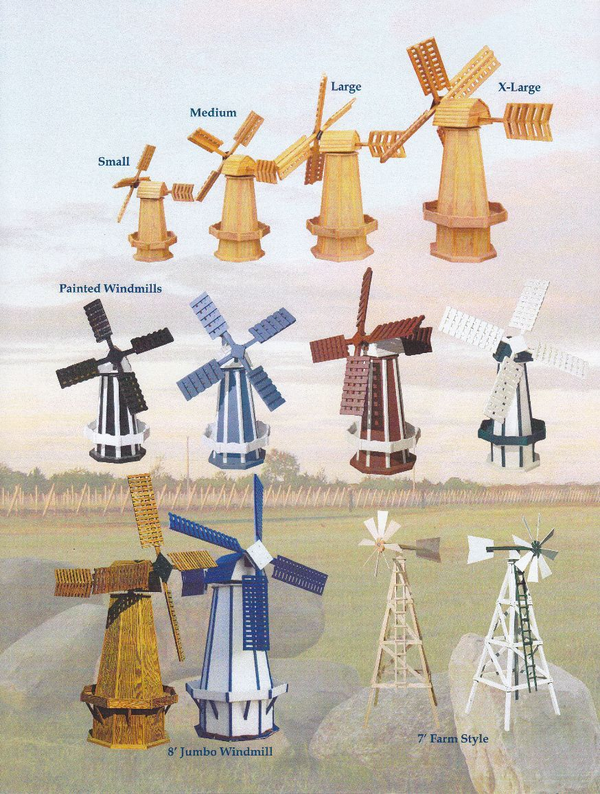 amish made poly two tone dutch windmill large dutch dutch dutch style wooden windmills four sizes and styles of amish made wood windmills holland style