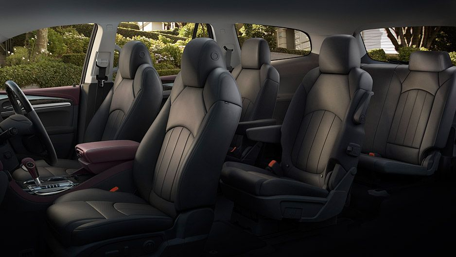 Interior Of The 2016 Buick Enclave With Standard Seven Passenger