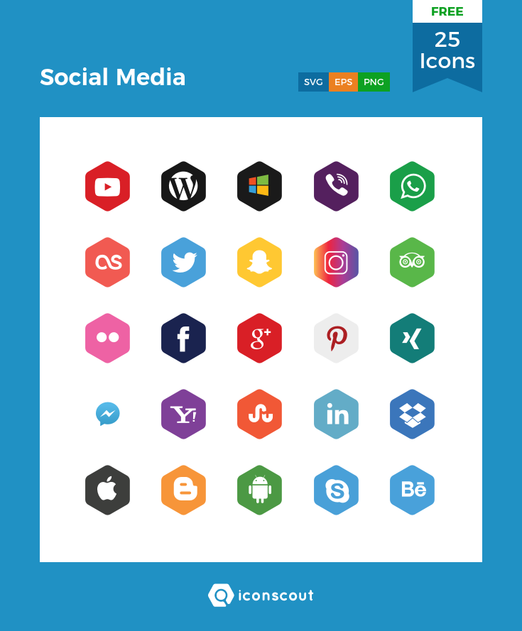 Download Download Social Media Icon pack - Available in SVG, PNG ...