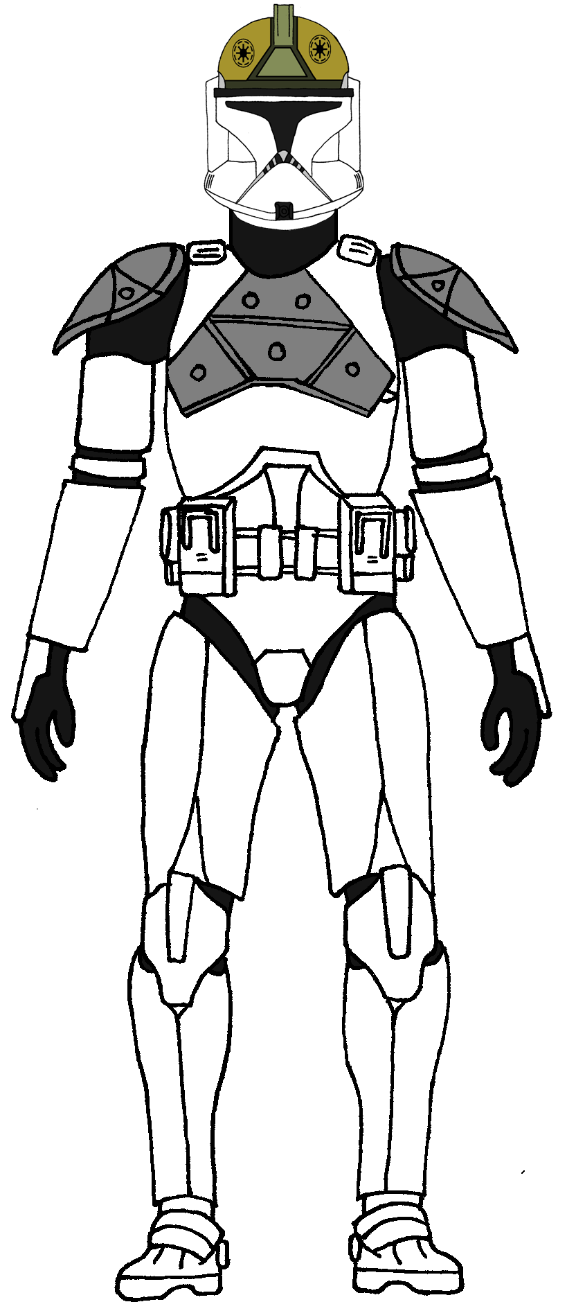 Clone Trooper Gunner 1 Star Wars Clone Wars Star Wars Drawings Star Wars Trooper