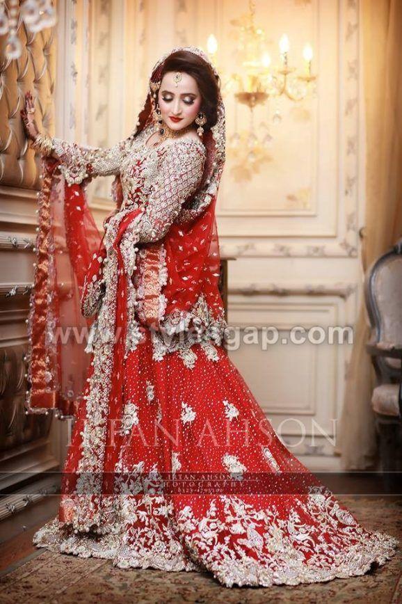 809e3e7217 40 Best Designs Pakistani Latest Bridal Lehenga Collection 2019-20 ...