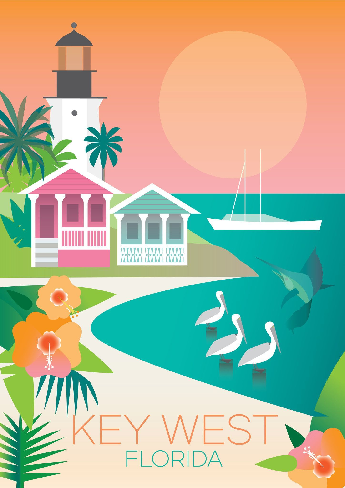 New Home Interior Design Key West Vacation Home: Vintage Travel Posters, Vintage Posters, Travel Posters