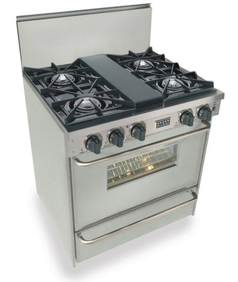 Ttn260 7bw Five Star 30 Quot Pro Style All Gas Range With Open Burners Natural Gas Stainless Steel Oven Cleaning Convection Oven Broiler Oven