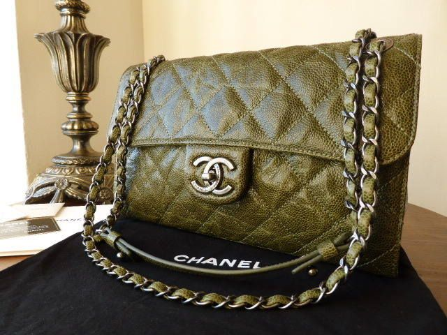 6acee3673c3d  Chanel Crave Flap Bag in Olive Glazed Calfskin - New  gt  http