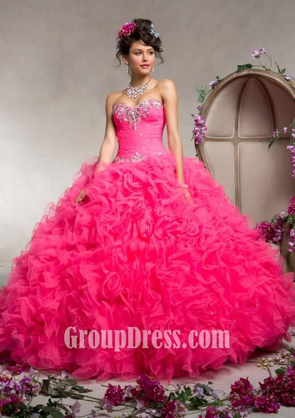 tulle ruffles quinceanera dress | Home Dresses Quinceanera Dresses ...
