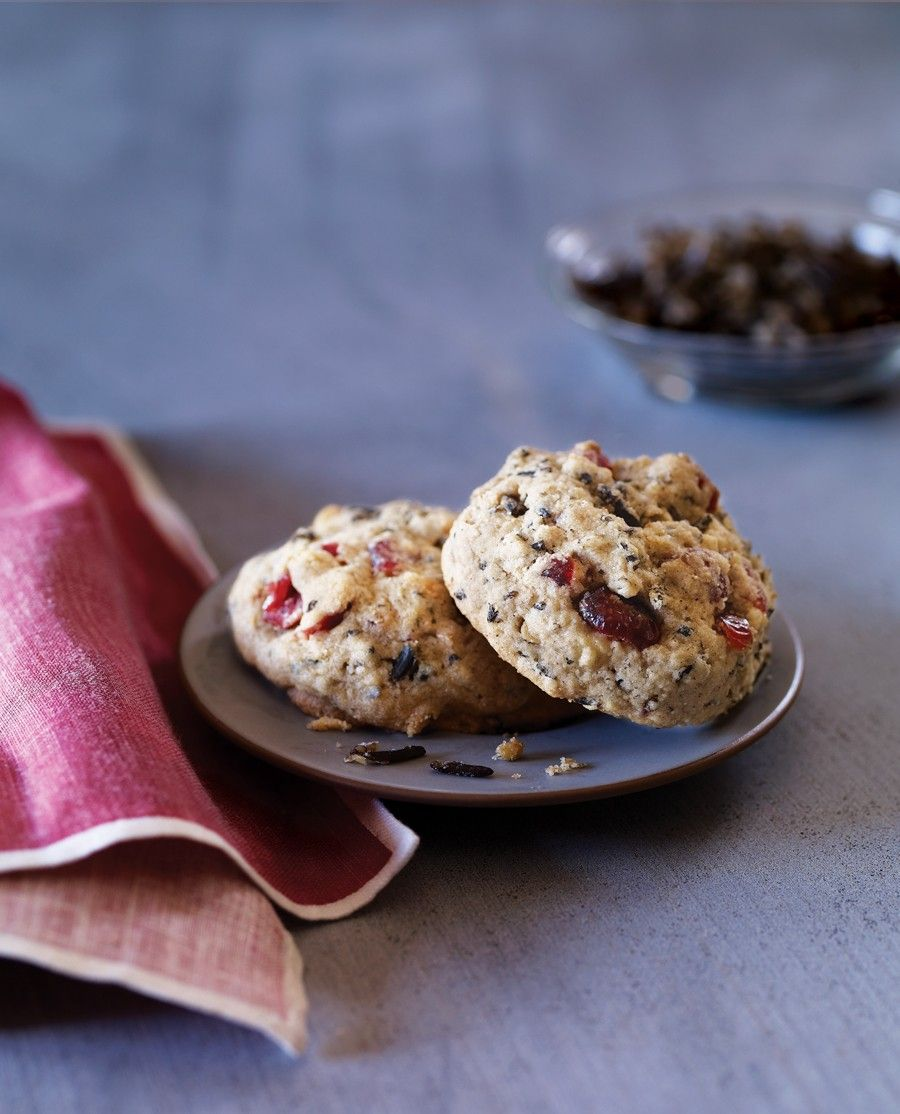 Wild Rice And Dried Cranberry Cookies