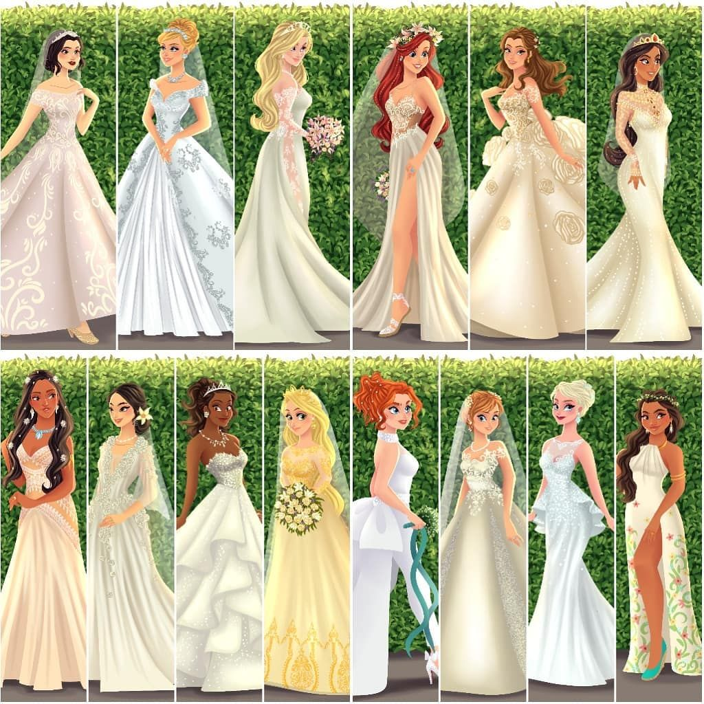 Who Is Your Favorite In This Collection Princessbride Archibaldart Snowwhite Cinde Princessa Nevesta Svadebnoe Plate Princessy Princessa Moda [ 1024 x 1024 Pixel ]