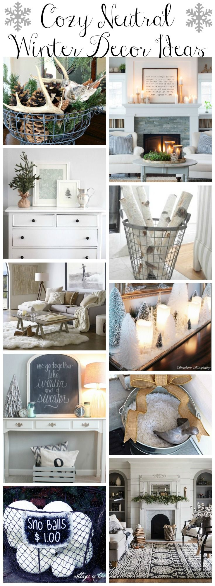 Clean Cozy Neutral Winter Decorating Ideas -   21 neutral winter decor