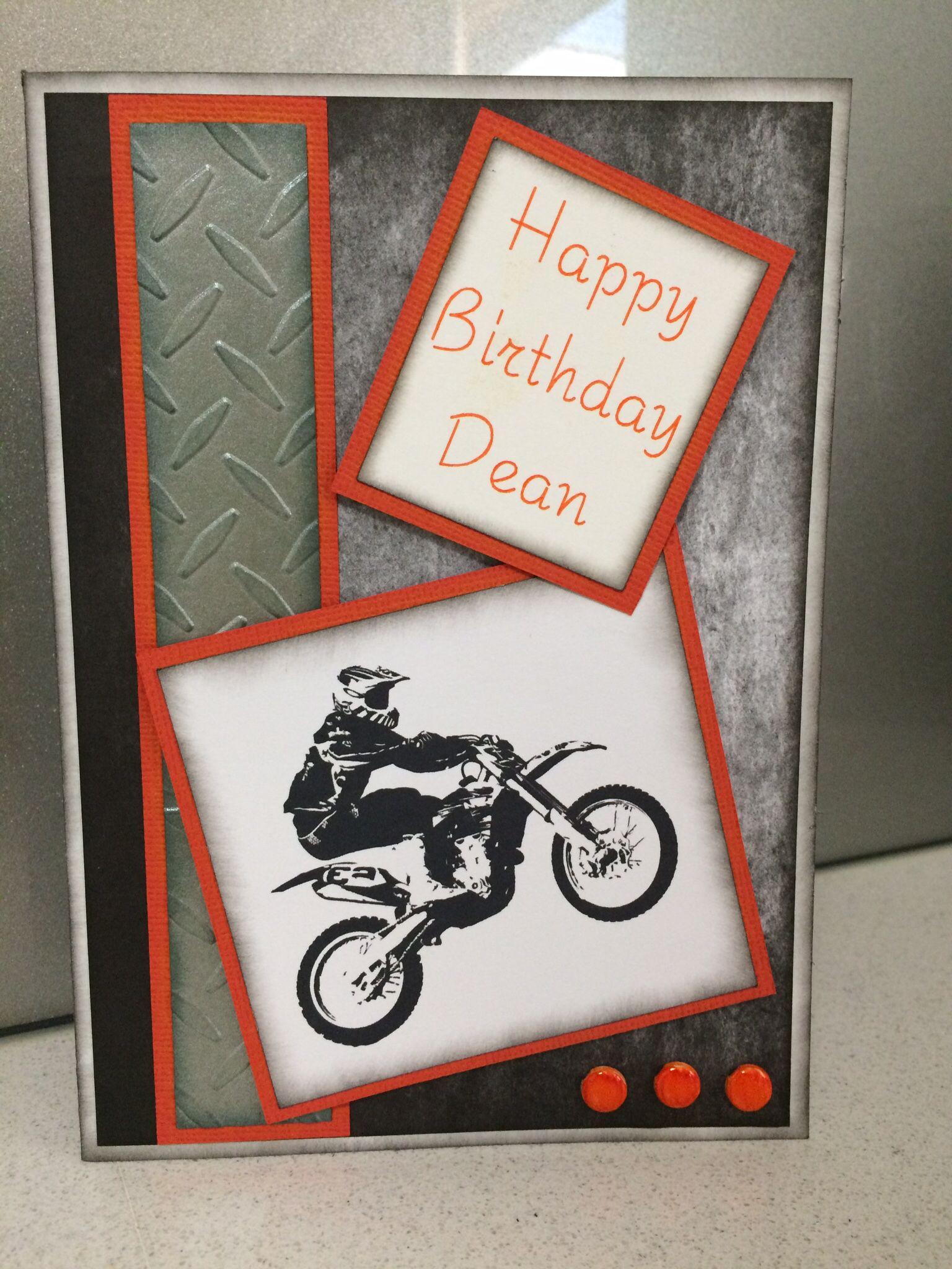 Handmade Birthday Card Male Motorbike Birthday Cards For Men Birthday Cards Masculine Birthday Cards