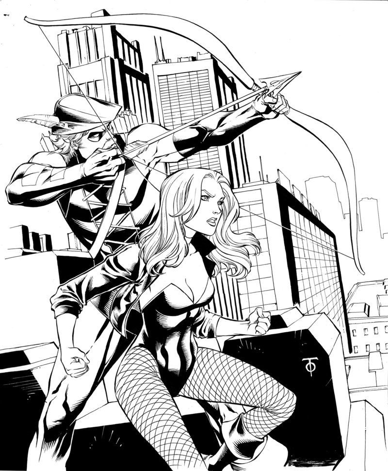 black canary - green arrow by *0boywonder0 on deviantart | black ... - Green Arrow Coloring Pages