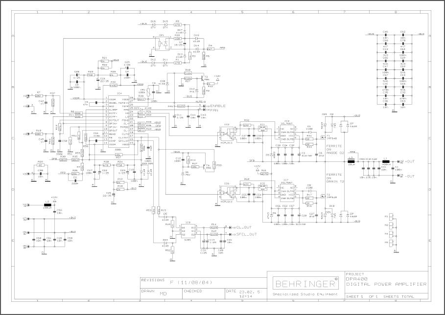 Behringer Dpa400 Rev F Schematic Pdf Download Guitar Effects Informative