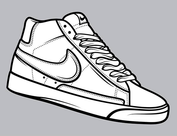 how to draw nike shoes step by style guru fashion | Shoes