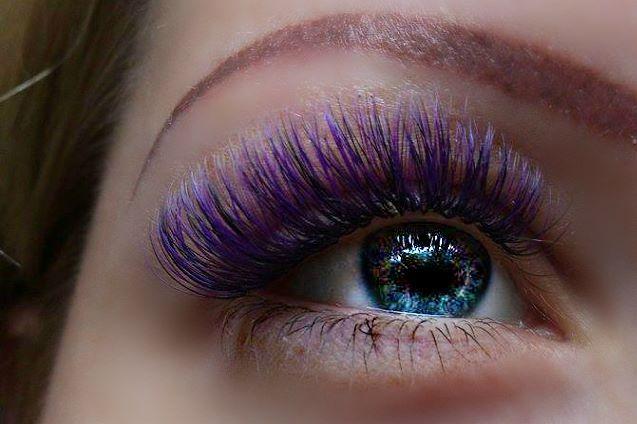 Colored eyelash extension 3D