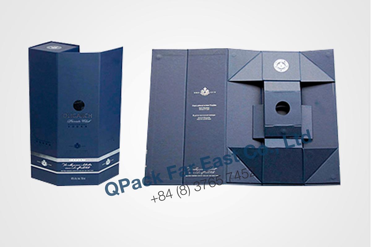 Geschenkververpackung ideal zum Verpacken von Sekt-, Wein-, Whiskeyflaschen etc.  Ideal für Promotions oder Kundengeschenke.