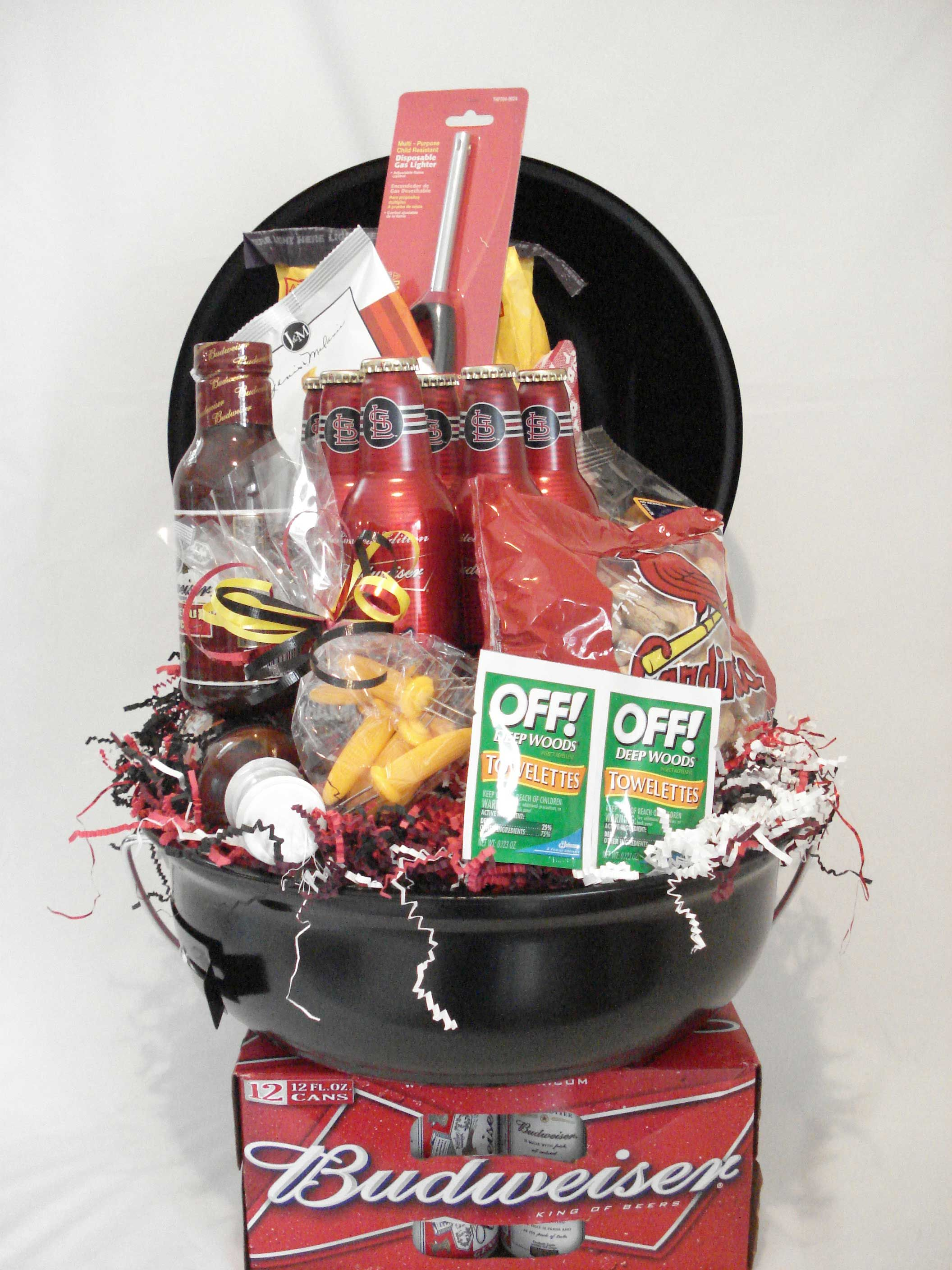 """Raffle """"Backyard BBQ"""" Basket w iTunes t card for party music"""