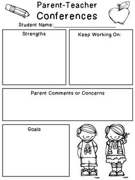 Hereu0027s A Simple Little Parent Teacher Conference Form To Help You Organize  Your Ideas For Conference Time! Enjoy! :)