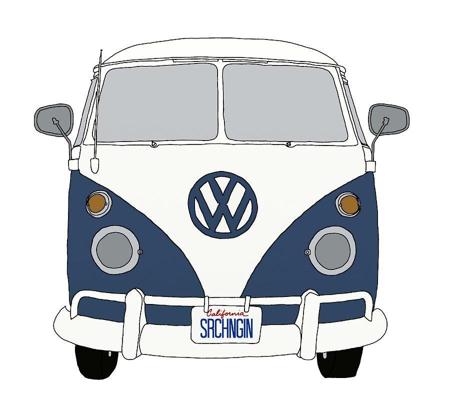 Vw Bus Front End Blue Priscilla Wolfe Jpg 900 820 Combi Vw