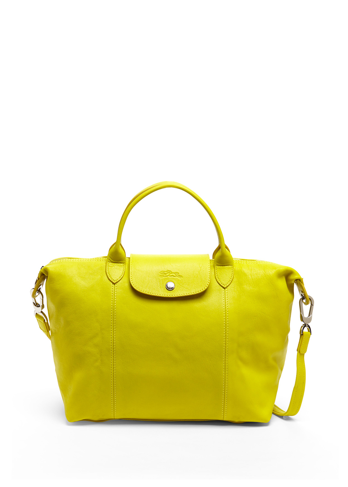Longchamp Yellow Le Pliage Cuir Handbag - 17% off, found on sale ...