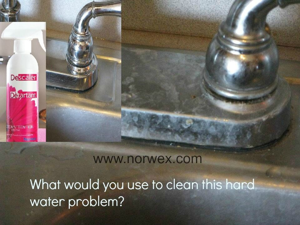 What would you use to clean hard water from stainless steel ...